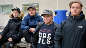 Rasmus Henriksson, Jesper Savolainen, Oskar Schöring och Fredrik Smirnoff.