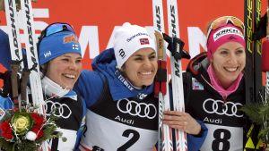 Krista Pärmäkoski, Heidi Weng, Teresa Stadlober.