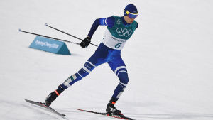 Eero Hirvonen tävlade i nordisk kombination vid OS 2018.