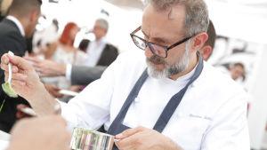 Massimo Botturas restaurang Osteria Francescana utsågs till världens bästa restaurang 2018.