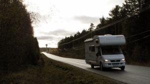Jakobstadsvägen i Nykarleby.