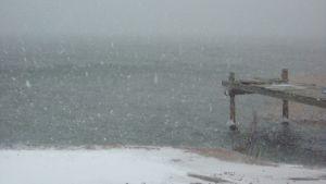 snöstorm i ingå fiskehamn