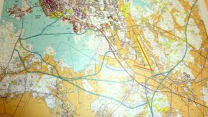 Talenteks alternativ för vägplanering logistikcentret-Vasklot i Vasa.