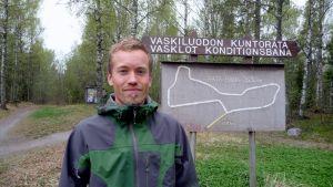 Joakim Träskelin, verksamhetsledare för Vasa idrottssällskap.