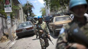 Fredsbevarare i Haiti i april 2011