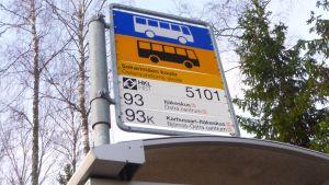 Busshållplats i Östersundom