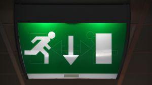 Exit-skylt.