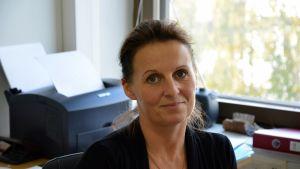Lilian Grönlund på Vasa rättsjhälpsbyrå.