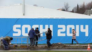 Förberedelserna igång inför OS i Sotji.