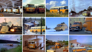 Posti- ja lennätinlaitoksen keltakylkinen kiitäjä porhalsi pitkin ja poikin 19600- ja 1970-luvuilla.