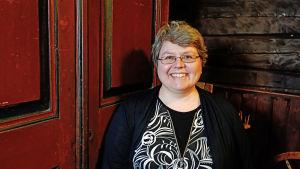 Annika Michelson på Kycklings hembygdsgård.