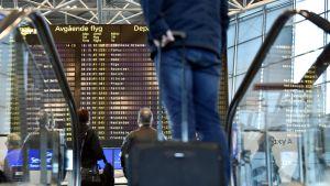 Helsingfors-Vanda flygplats under strejkdagen den 17 mars 2017.