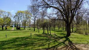 På det nuvarande campingområdet kan man fortfarande se spåren av en fin anlagd park