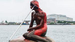 Skulpturen Den lille havfrue.