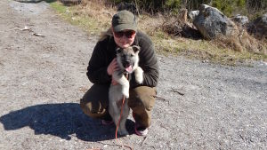 Sarah Ek, jägare med hunde Zack