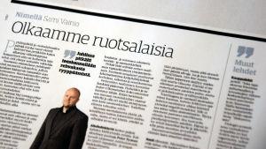 Ledarstick i Savon Sanomat uppmanar alla att leva som finlandssvenskar