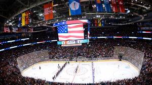 Arenan i Toronto inför matchen mellan Team North America och Ryssland.