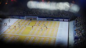 Miniatyrfotbollsspelare på en vadslagningskupong för att symbolisera matchfixing.