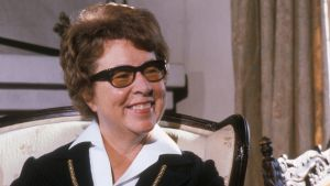 Teatteriohjaaja Vivica Bandler vuonna 1979 Itse asiassa kuultuna -ohjelmassa