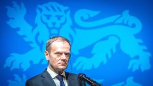 Donald Tusk är ordförande för Europeiska rådet.