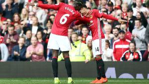 Paul Pogba och Jesse Lingar, Manchester United.