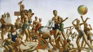 Charles Meeren maalaus Australian Beach Pattern, 1940