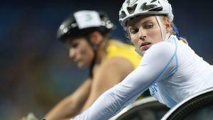 Amanda Kotaja kämpar om medalj natten till lördag.
