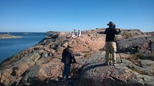 Inspelning av museifilm på Utö