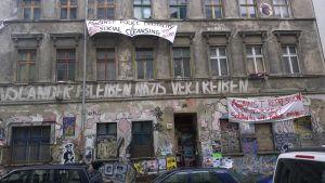 Ockuperat hus i Berlin.
