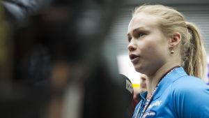 Petra Olli är en duktig brottare.