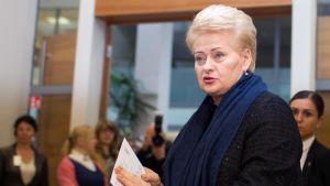 Litauens president Dalia Grybauskaitė