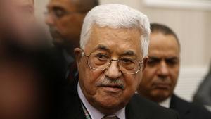 Palestinas president Mahmoud Abbas.