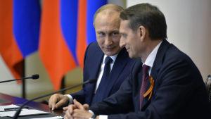 Sergei Naryshkin och Vladimir Putin