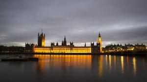 Westminster, Towern och Big Ben i London.