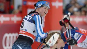 Krista Pärmäkoski gjorde ett utmärkt kval i världscupsprinten i Drammen.