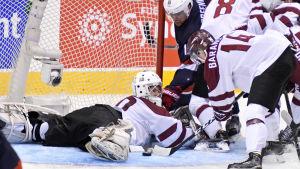 Lettland mötte USA i gruppspelet i JVM 2017.