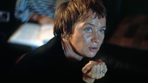 Mai Zetterling under en filminspelning