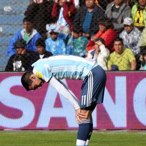 Argentinas Angel de Maria i matchen mot Bolivia.