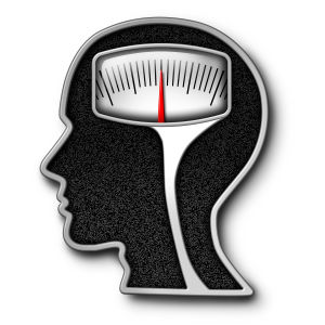Ett illustrerat huvud med en våg inuti.
