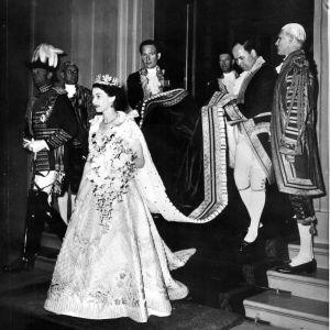 Drottning Elisabeths kröning år 1953.