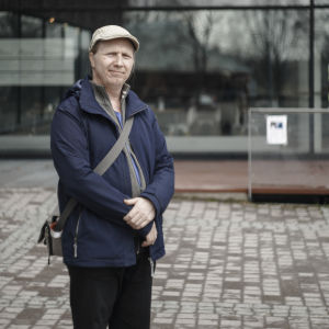 Sami Henttonen, styrelsemedlem i brukarorganisationen Suomen Lumme.