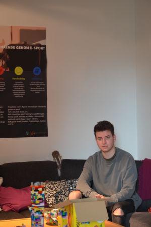 E-sportstuderande Kasper Hagman-Chafei.