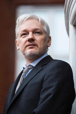 Porträtt på Julian Assange