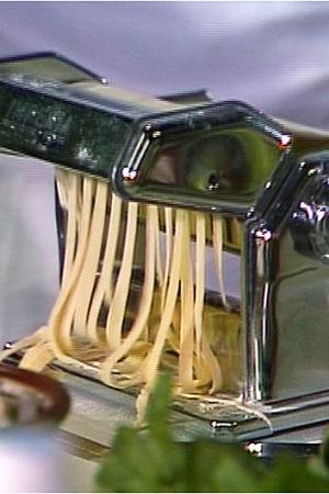 Här lagar man pasta.