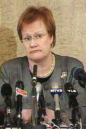 Tarja Halonen blir president, 2000