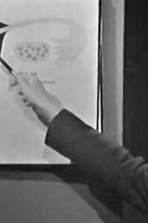 Tecknad bild av livmoder, Yle 1967