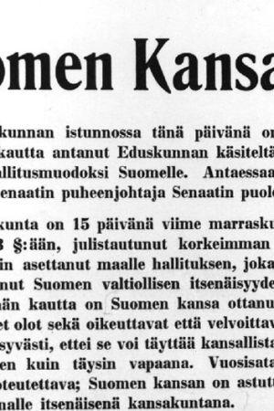 Finlands självständighetsförklaring, 1917