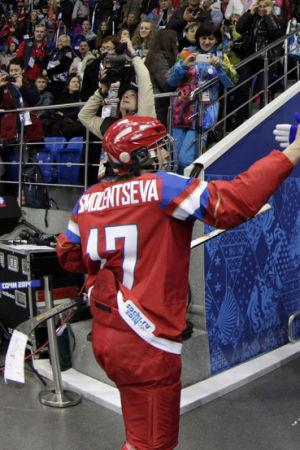 Rysslands hockeydamer i Sotji.