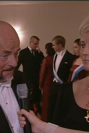 Bild på Björn Weckström när han blir intervjuad