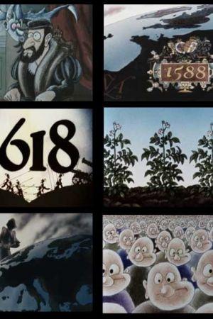 årtal i bild, rutor med årtal, animerat